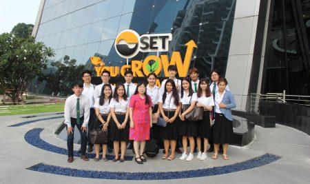 รศ.ดร.ชลลดา  หลวงพิทักษ์ นำนิสิตวิชา 01101454 สถาบันการเงินและระบบเศรษฐกิจไปศึกษาดูงานนอกสถานที่ ณ ตลาดหลักทรัพย์แห่งประเทศไทย เมื่อวันพฤหัสบดีที่ 28 มี.ค. 2562